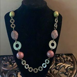 Jewelry - Gold, Brown and Green Necklace